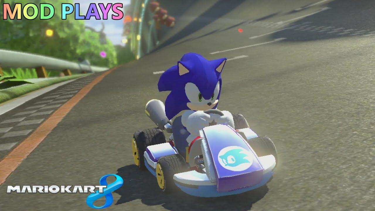 Mod plays mario kart 8 wii u sonic the hedgehog youtube - Mario kart wii voiture ...