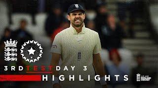 Pujara 91* Frustrates England   England v India - Day 3 Highlights   3rd LV= Insurance Test 2021