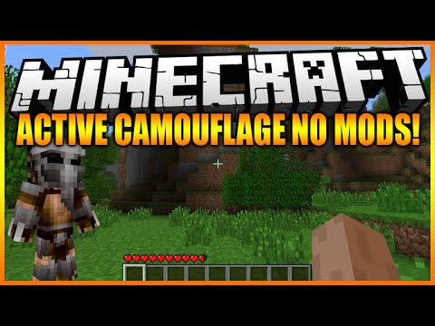 ★Minecraft PC 1.8 - The Predator Active Camouflage NO MODS Amazing World Showcase★