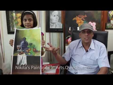 Landscape Watercolor Painting Nikita Sachdeva deaf and dumb child artist