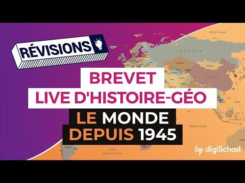 Brevet 2017 : Révisions live Histoire : Le monde depuis 1945 - digiSchool