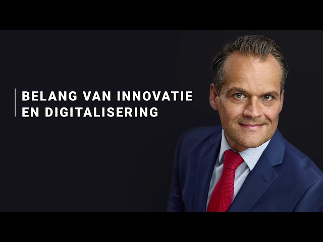 Jan-Kees de Jager - Belang van innovatie en digitalisering