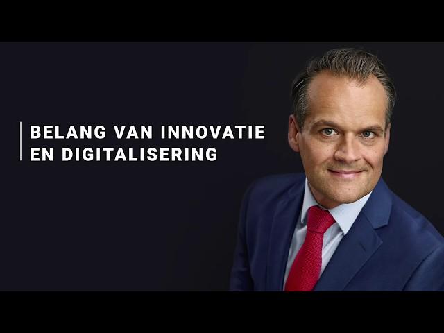 Jan-Kees de Jager - Belang van innovatie en digitalisering