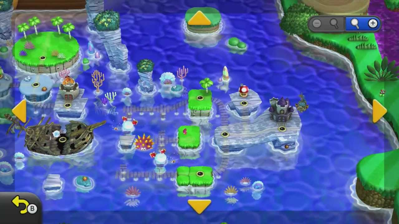 The World Map In New Super Mario Bros U Youtube