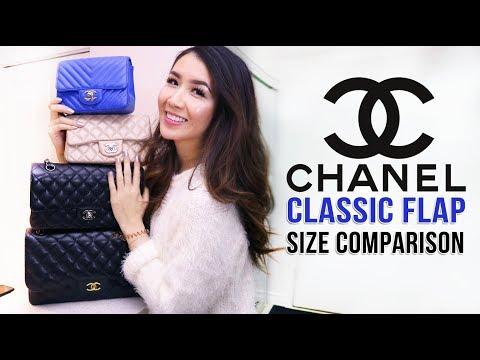 Chanel Classic Flap Size Comparison | Jumbo, M/L, Mini, Square Mini