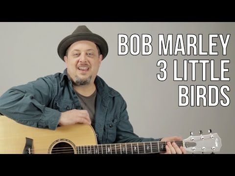 Bob Marley - 3 Little Birds - How to Play on Acoustic Guitar - Easy songs for acoustic