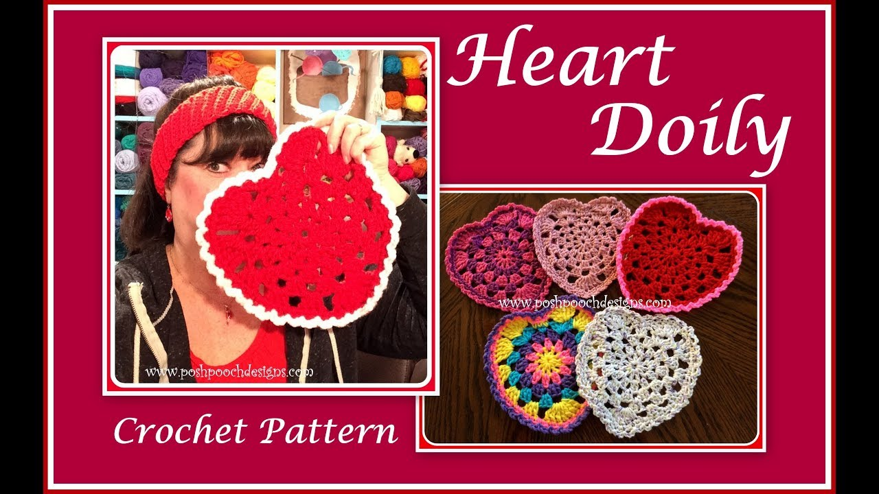 Heart Doily Crochet Pattern - YouTube