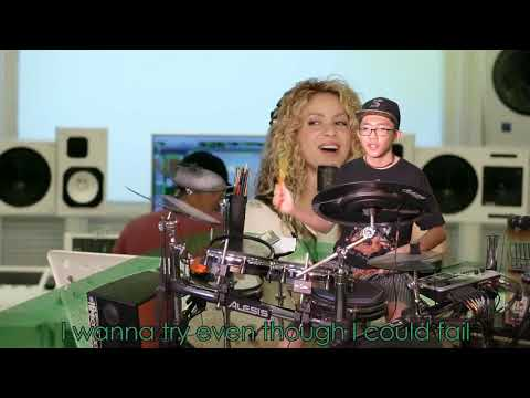 Shakira - Try Everything (Karaoke Drum Cover by Timothy Liem) (with lyrics)
