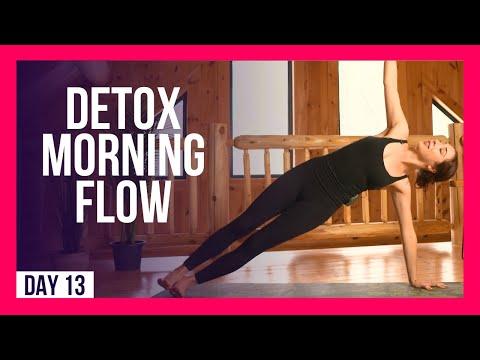 10 min Morning Yoga Flow To DETOX & DESTRESS – Day #13 (DESTRESS YOGA)