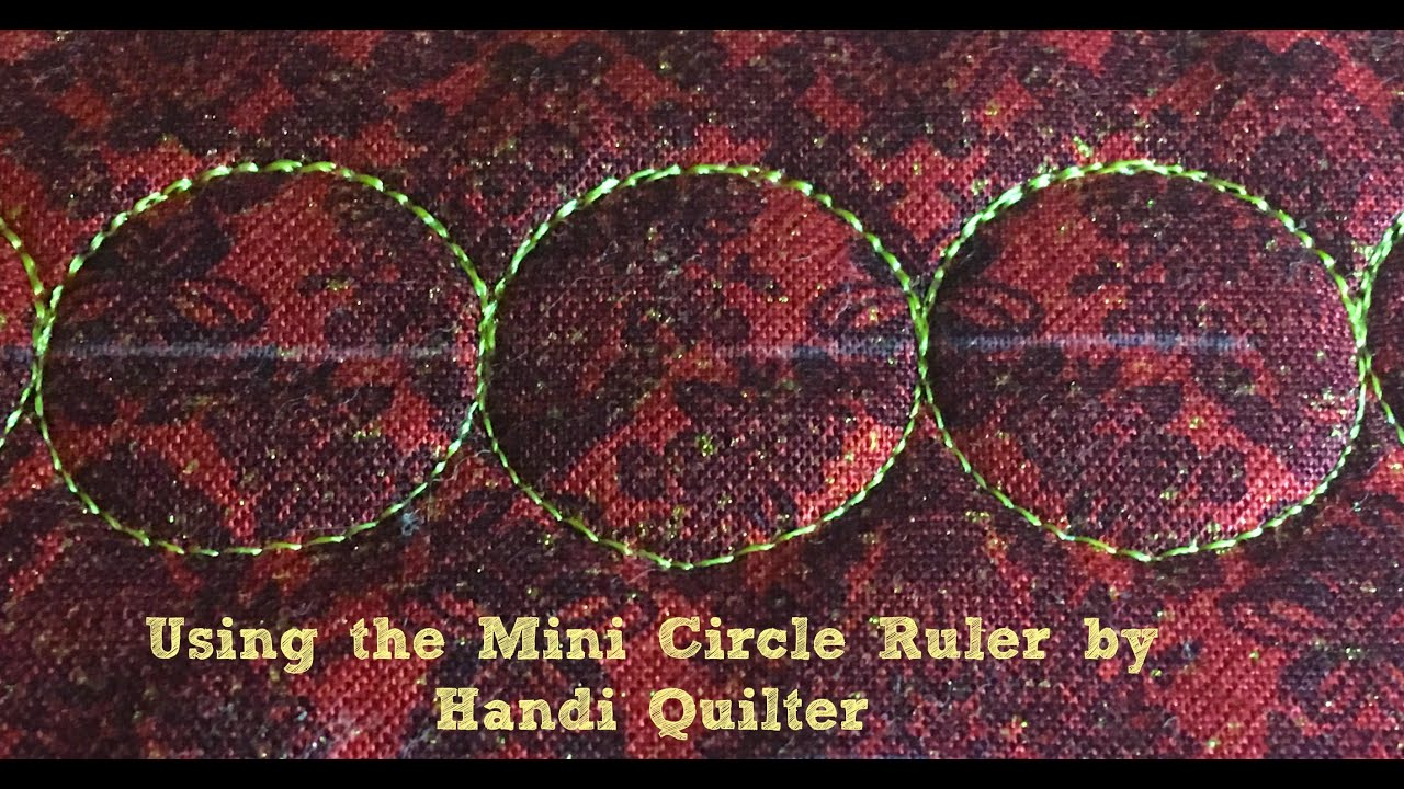Using the handi quilter mini circle ruler on a sit down longarm using the handi quilter mini circle ruler on a sit down longarm pronofoot35fo Images