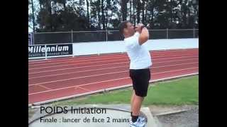 SHOT PUT Linear Exercises by Didier POPPE PART 3 : 5-POWER POSITION 6-DELIVERY.m4v