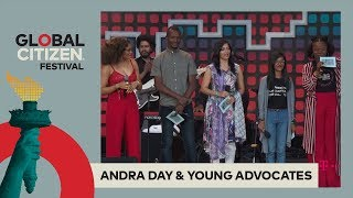 Andra Day Brings Youth Activists on Stage | Global Citizen Festival NYC 2017