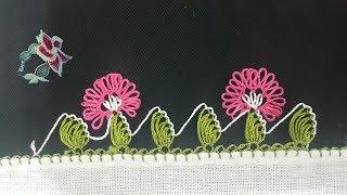 iğne oyası yapımı | oya modelleri | crochet needles