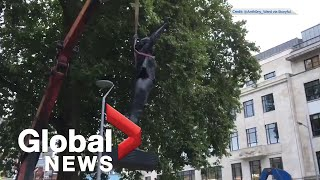 Statue of BLM protester removed in Bristol, England after one day