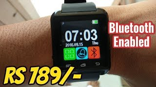 Hindi SUPERVISION U8 Smartwatch Review