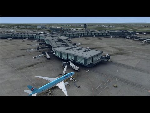 Korean air 072 Vancouver to Seoul on vatsim Long haul flight,fsx,pmdg 777