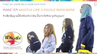 [Karaoke-Thaisub] WHISTLE (휘파람) (Acoustic Ver.) - BLACKPINK