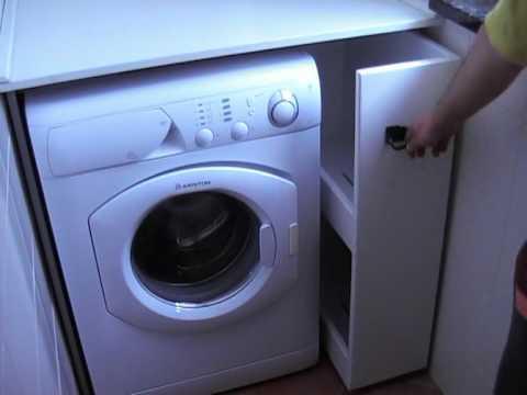 Mobile per lavatrice youtube for Coprilavatrice in legno