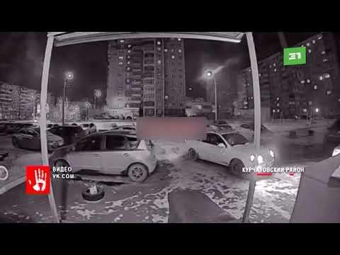 Приключения у подъезда на северо западе Челябинска  Пьяный челябинец разбил домофон