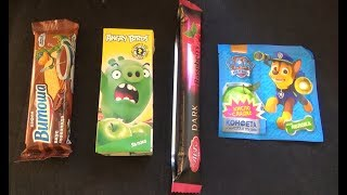 New Candy Unboxing! PAW PATROL Angry Birds Juice AVK DARK Chocolate Vitosha thumbnail