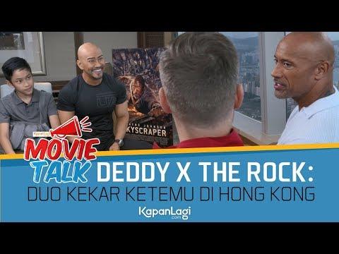 Duo Kekar Deddy Corbuzier - The Rock: Interview SKYSCRAPER di Hong Kong