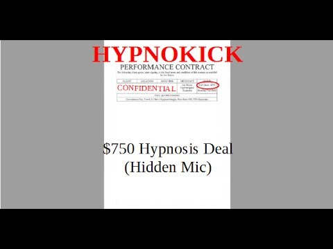 HypnoKick: How To Close A $750 Hypnosis Deal (Hidden Mic)