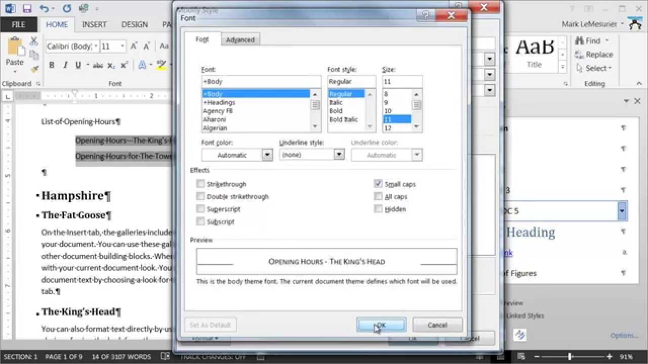 how to add from fields in ms word 2013