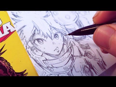 Drawing My Izuku Midoriya New Hero Design - Redesign   Anime Manga Sketch thumbnail