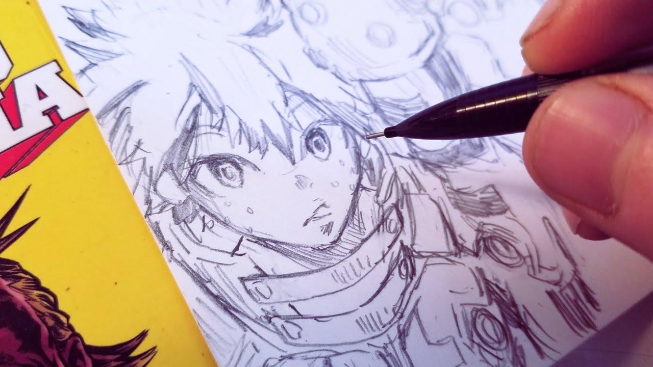Drawing My Izuku Midoriya New Hero Design Redesign Anime