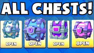 Clash Royale OPENING ALL CHESTS (LEGENDARY / SUPER MAGICAL / EPIC / MAGICAL / GRAND CHALLENGE CHEST)