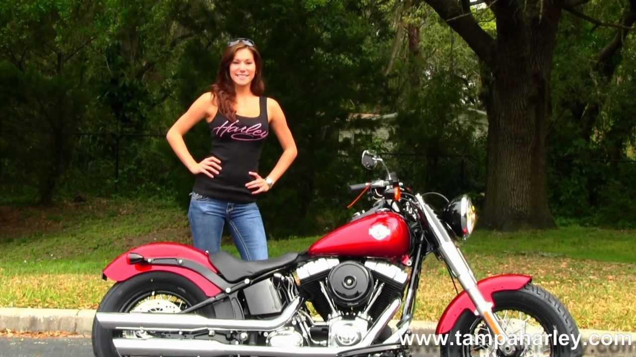 Harley V Rod For Sale >> New 2013 Harley-Davidson FLS Softail Slim in Ember Red Sunglo for sale - YouTube