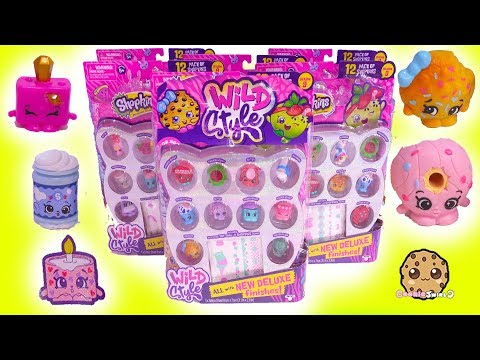 Wild Style Season 9 Shopkins Color Change , Squishy 12 Packs Haul with Surprise Blind Bags