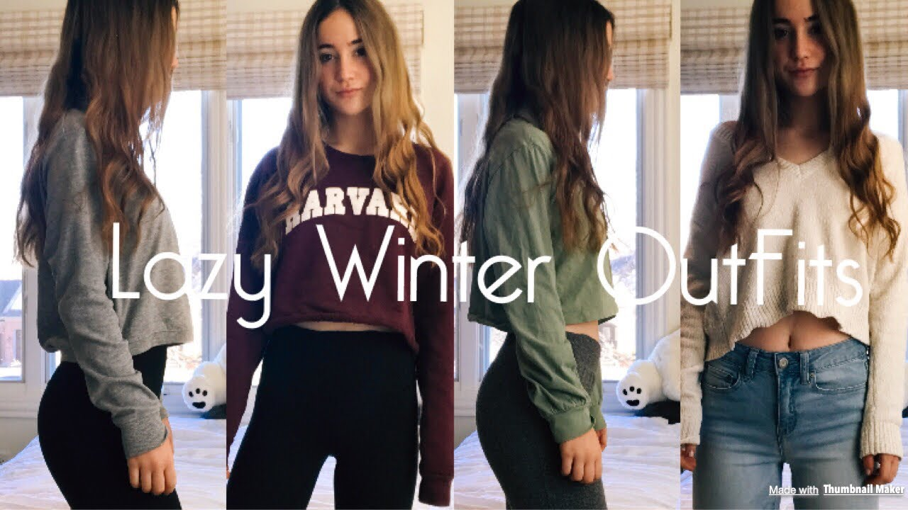 lazy day winter outfit ideas for school  2018  youtube