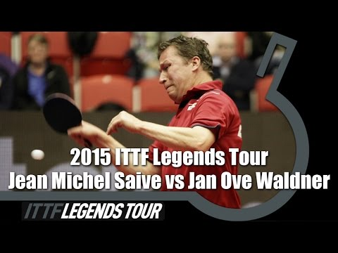 Legends Tour 2015 FULL MATCH: Jean Michel Saive vs  Jan Ove Waldner (1/2)