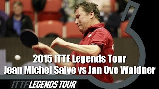 Legends Tour 2015 FULL MATCH: Jean Michel Saive vs  Jan Ove Waldner (1/2)(Review all the highlights from the Jean Michel Saive vs Jan Ove Waldner Men's Match from the ITTF Legends Tour 2015 Subscribe here for more official Table ..., 2015-03-05T19:07:51.000Z)