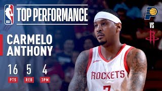 Carmelo Anthony Puts Up 16 vs The Pacers   2018 NBA Preseason