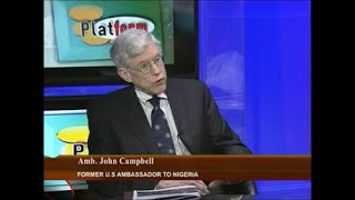 Ambassador John Campbell on Nigeria Summit on National Security 2016