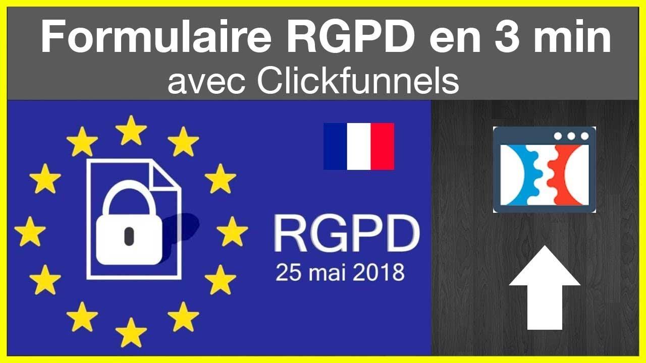 Créer un formulaire de capture RGPD avec Clickfunnels en 3 min