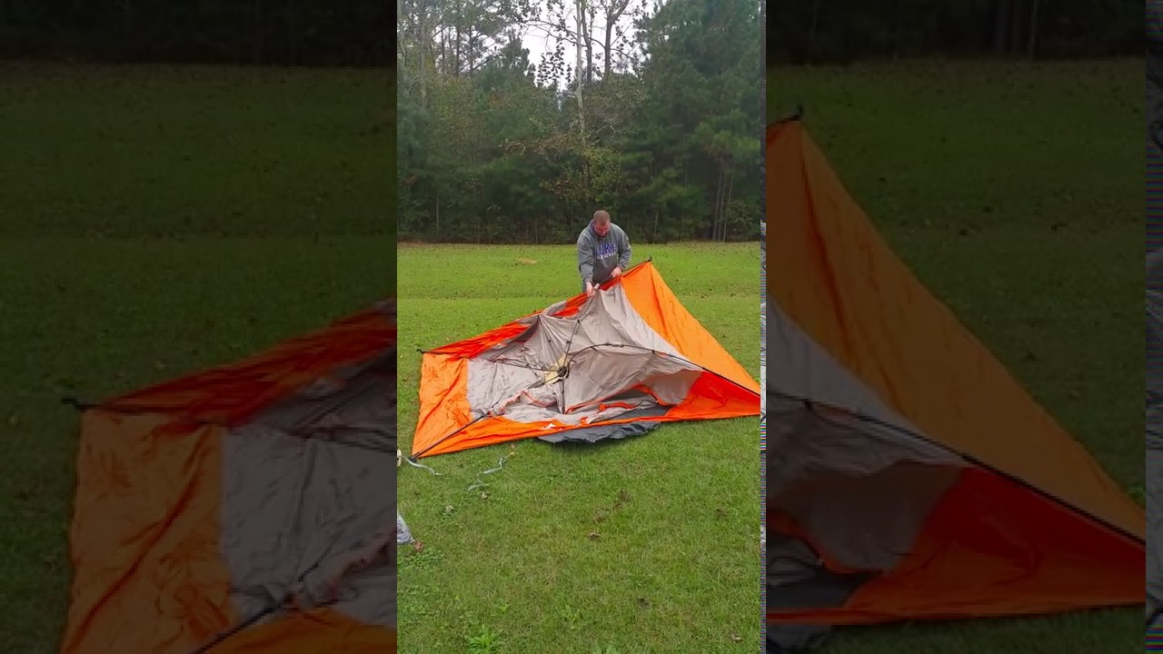 Ozark 6 man instant tent set up & Ozark 6 man instant tent set up - YouTube