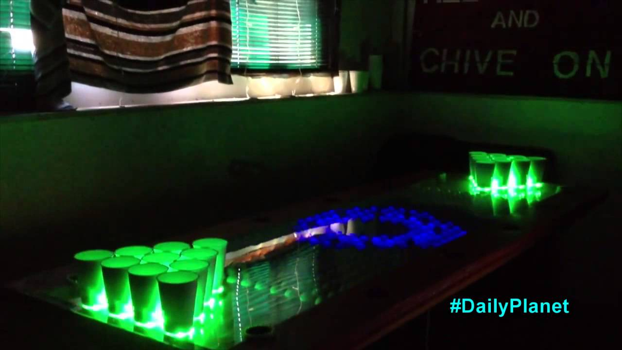 Game Changing High-Tech Beer Pong Table! - YouTube