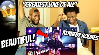 """13- Year Old Kennedy Holmes Performs """"Greatest Love of All"""" - The Voice 2018"""