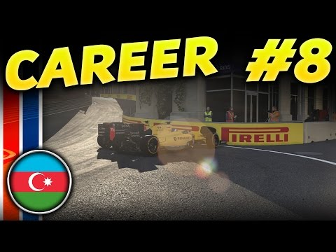 F1 2016 CAREER MODE PART 8: CONTACT AT 350km/h - Baku