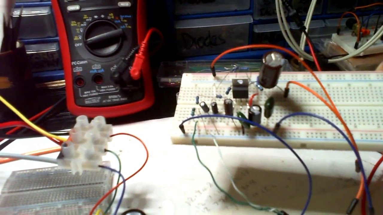 Building Dual Rail Power Supply For LM1875 pt1