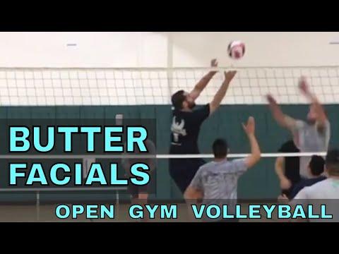BUTTER & FACIALS - Open Gym Volleyball Highlights (1/18/18) part 1
