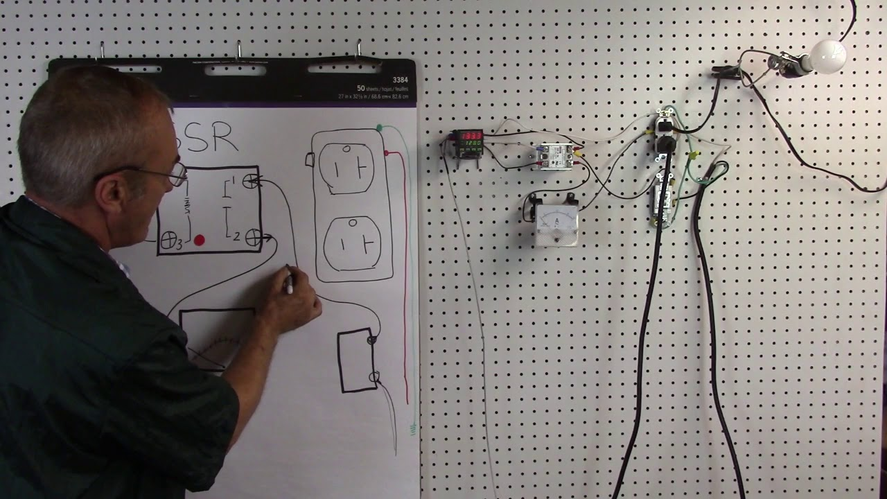 Wiring 120v Pid Including An Amp Meter Youtube Diagram