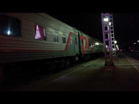 Отправление со станции Невинномысск ЭП1П-028 со скорым поездом #679 Владикавказ - Адлер