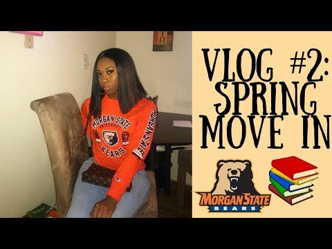 COLLEGE VLOG #1: SPRING '18 MOVE IN - MORGAN STATE EDITION | AIRIELSHARICE