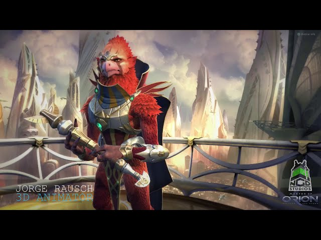 Master Of Orion ingame cinematics animations