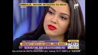 "Carmen, fiica lui Adrian Minune ""Tata si Franco se inteleg foarte bine!"""