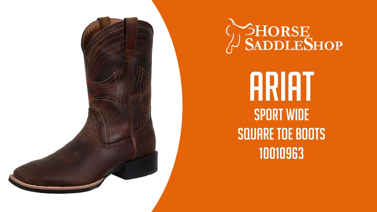 84ab700d8f5 Ariat Men's Sport Wide Square Toe Boots 10010963